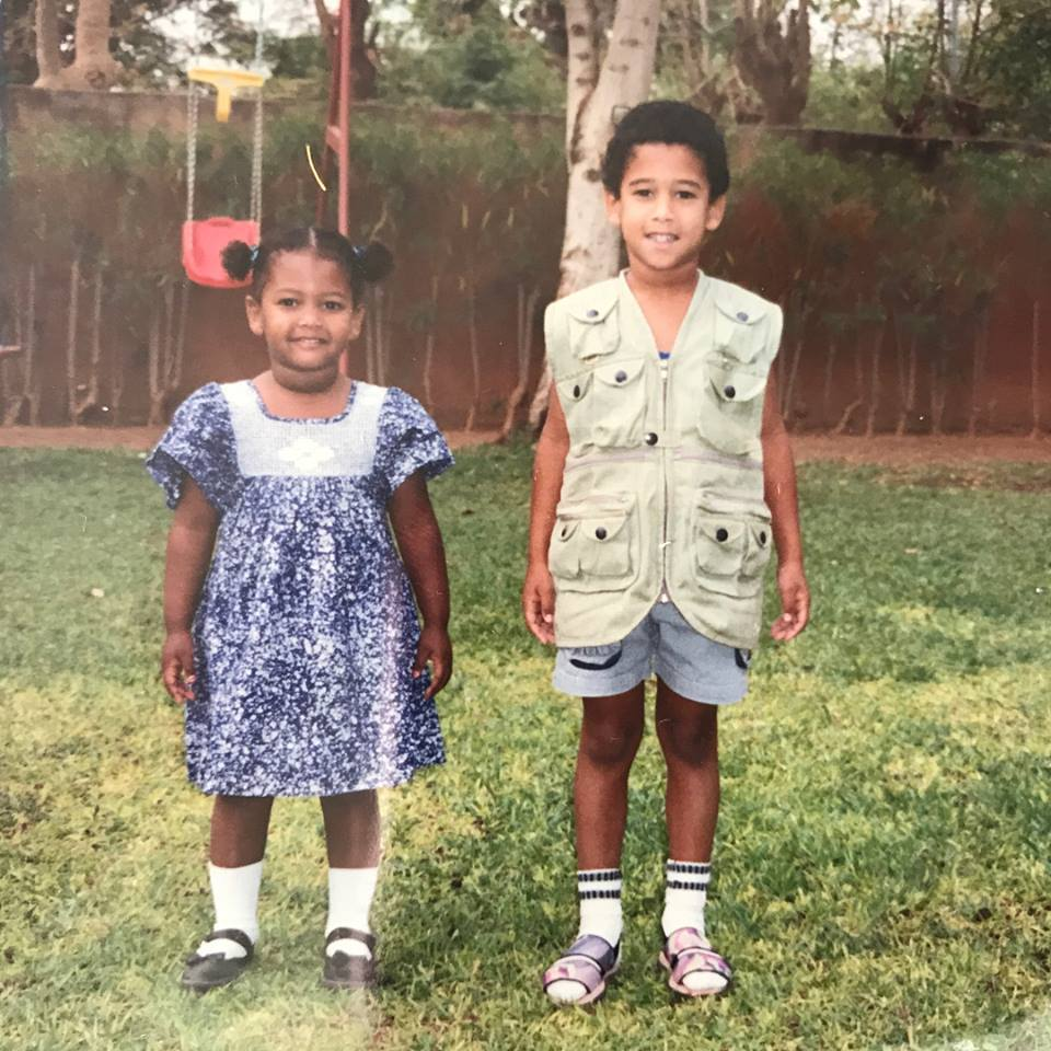 Clint Robins, right, as a child with his sister in Ouagadougou, Burkina Faso. (Photo provided by Clint Robins)