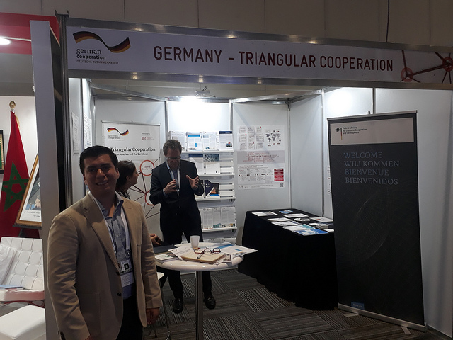 Salvadoran engineer Francisco Quintanar (L) was part of the German delegation that attended the South-South Cooperation Conference in Buenos Aires. His project on energy efficiency is an example of triangular cooperation between countries of the South, with the support of one or more countries of the industrialised North. Credit: Daniel Gutman/IPS