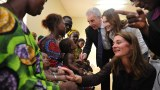Melinda Gates in Dangbo, Benin, in 2010 with the AIDS World Fund