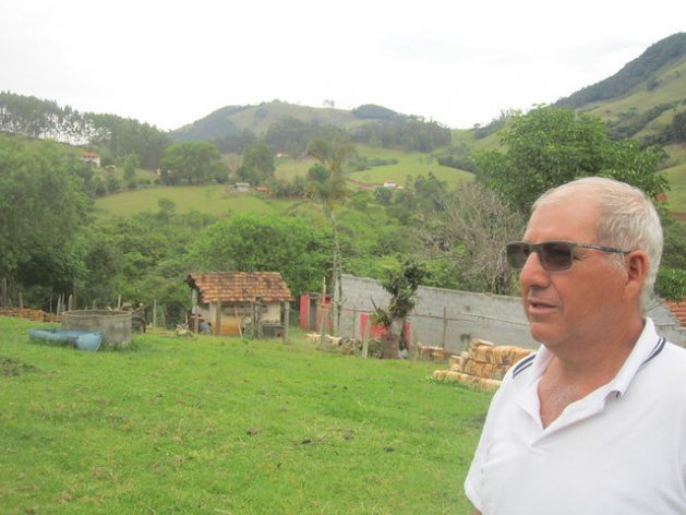 "Elias Cardoso is proud of the restored forests on his 67-hectare farm, where he has protected and reforested a dozen springs as well as streams. ""I was a guinea pig for the Water Conservator project, they called me crazy,"" when the mayor's office was not yet paying for it in Extrema, a municipality in southeastern Brazil. Credit: Mario Osava/IPS"