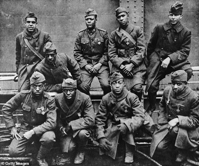 African-American soldiers return home from Europe after the First World War in 1918
