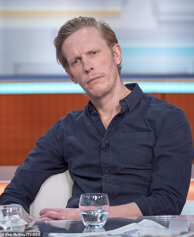 Pictured: Laurence Fox on Good Morning Britain today as he told presenters: 'I'm not a historian.'