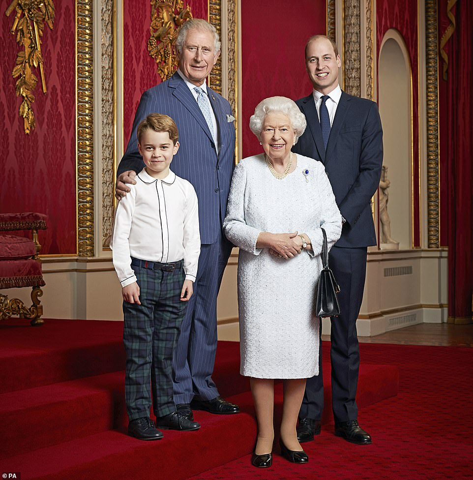 The Prince of Wales (pictured, alongside William, George and The Queen is already moving closer to adopting a modern 'Prince Regent' role, which would see him control day-to-day royal affairs while his mother remains monarch