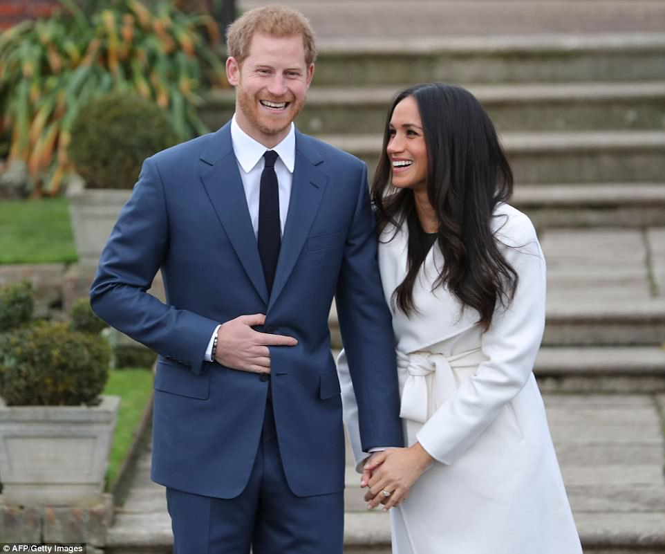 On November 27, 2017, Prince Harry and Meghan Markle appeared in public for the first time following their engagement announcement as they posed for photographs in the Sunken Garden at Kensington Palace in west London