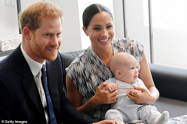 The Duke and Duchess of Sussex have said they will no longer respond to enquiries from journalists at British tabloids. Pictured with son Archie Mountbatten-Windsor during a royal tour of South Africa, September 25, 2019