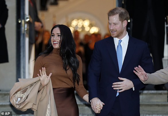 The Duke and Duchess of Sussex leave after visiting Canada House in London yesterday, after their recent stay in Canada