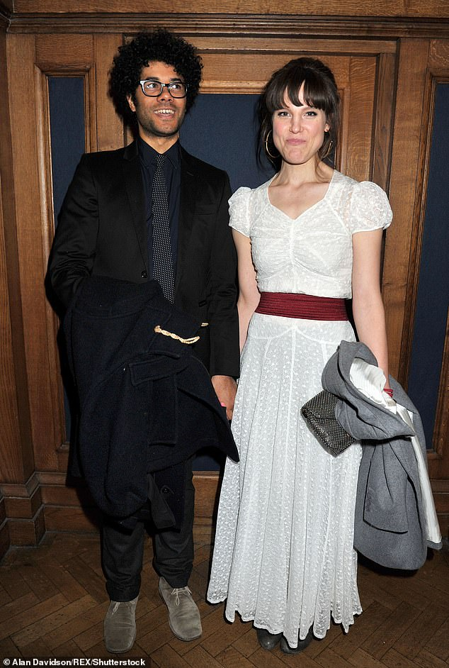 Fall-out: Laurence admitted his brother-in-law, half-Nigerian comedian Richard Ayoade was 'furious' with his following his comments - he is married to his sister Lydia (pictured in 2012)