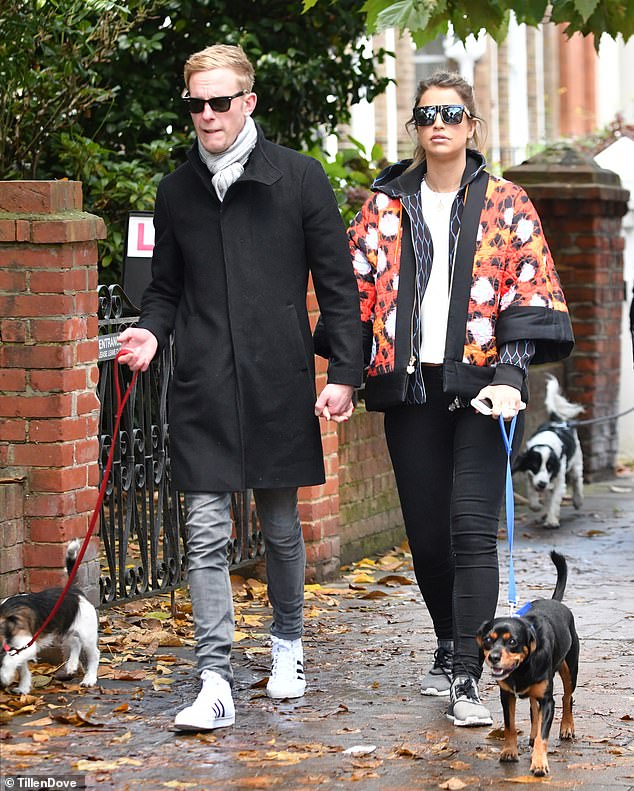 All over: In December 2016, before his divorce was finalised, he split from Vogue Williams, 34, after a brief romance, saying they would 'remain friends'