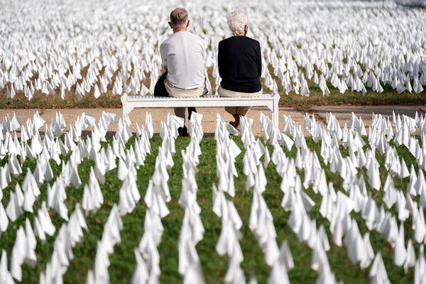 More than 250,000 flags were planted outside the D.C. Armory last fall, to memorialize the U.S. Covid death toll at the time. The toll has more than doubled since, and the artist who created the first installation,Suzanne Brennan Firstenberg, is creating a new one for this fall that will see more than 600,000 flags planted along the National Mall.