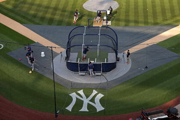 The Yankees and the Red Sox were on the field and preparing for a game Thursday when they learned it had been postponed.
