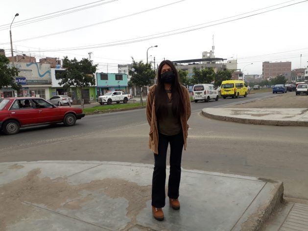 Girls' sexual and reproductive rights activist Mía Calderón stands on San Martín Avenue in San Juan de Lurigancho, the most populous municipality of Peru's capital. She complained that the pandemic once again highlighted the fact that sexual violence against girls comes mainly from someone close to home and that the girls are often not believed. CREDIT: Mariela Jara/IPS